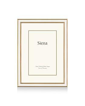 """Siena - White Enamel with Gold Frame, 5"""" x 7"""""""