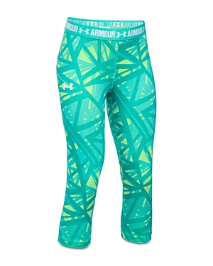 Under Armour Girls' Printed Capri Leggings - Little Kid, Big Kid