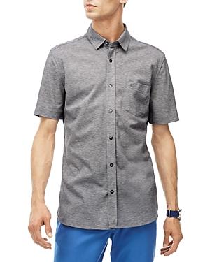 Lacoste Pique Knit Slim Fit Button-Down Shirt
