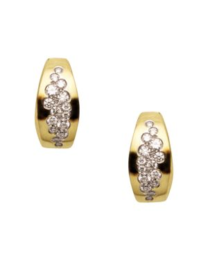 Antonini 18K Yellow Gold Matera Silvermist Diamond Earrings