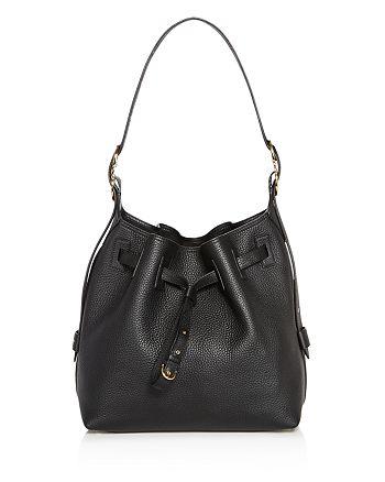 6c89e472cacf Salvatore Ferragamo - Carla Pebbled Leather Bucket Bag