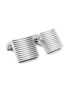 Tateossian - Rhodium Plain Zen Cufflinks