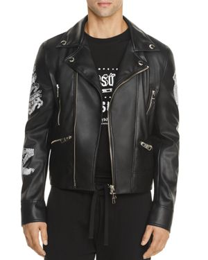 Versus Versace Zayn x Versus Vegan Leather Biker Jacket