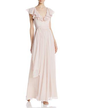 Jill Jill Stuart Ruffle Chiffon Gown