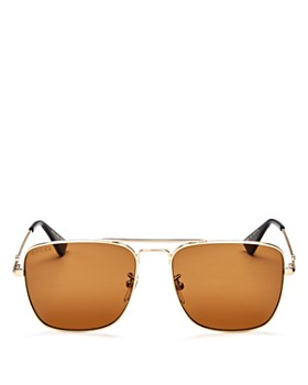 Gucci - Men's Caravan Brow Bar Square Sunglasses, 55mm
