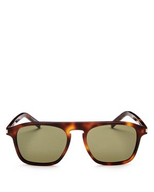Saint Laurent Square Keyhole Sunglasses, 52mm