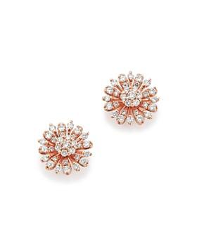Bloomingdale's - Diamond Flower Stud Earrings in 14K Rose Gold, 65 ct. t.w. - 100% Exclusive