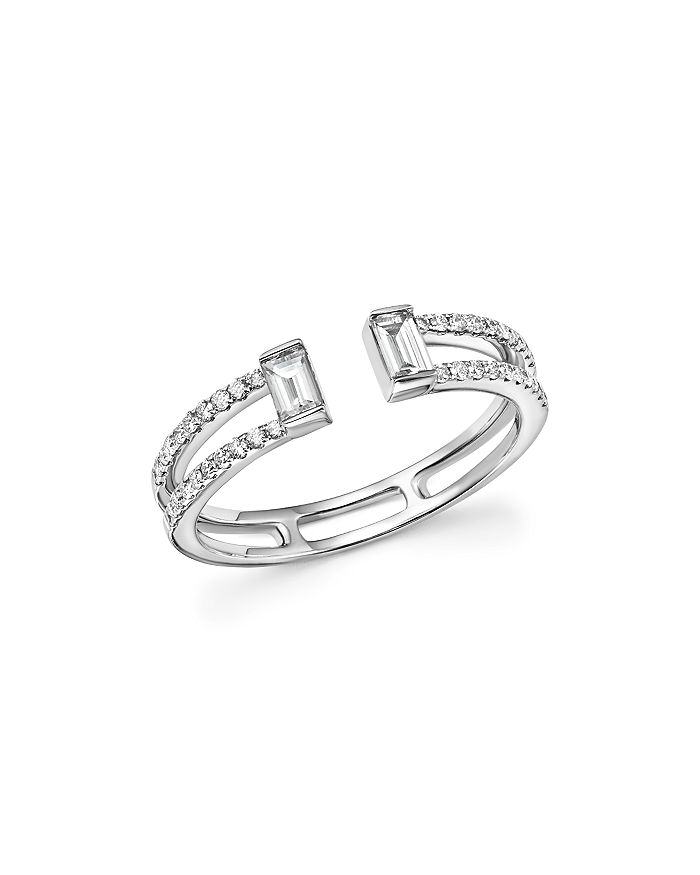 Bloomingdale's - Diamond Round and Baguette Open Band in 14K White Gold, .40 ct. t.w. - 100% Exclusive