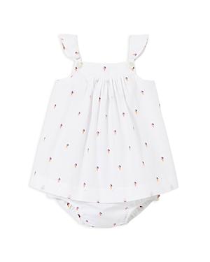 Jacadi Girls' Ice Cream Cone Dress & Bloomers Set - Baby