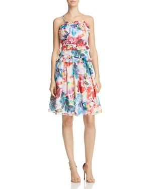 Chelsea And Walker Amilia Printed Silk Dress