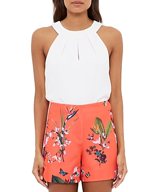 Ted Baker Tropical Oasis Scallop-Detail Shorts