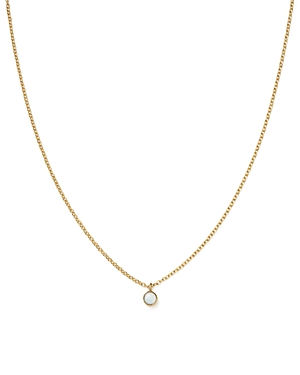 Zoe Chicco 14K Yellow Gold Opal Drop Choker Necklace, 14