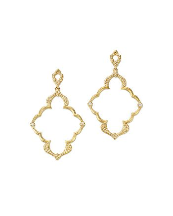 Armenta - 18K Yellow Gold Sueno Dulcinea Diamond Cravelli Earrings