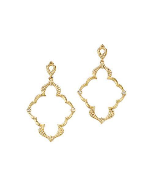 Armenta - 18K Yellow Gold Sueno Dulcinea Diamond Cravelli Earrings
