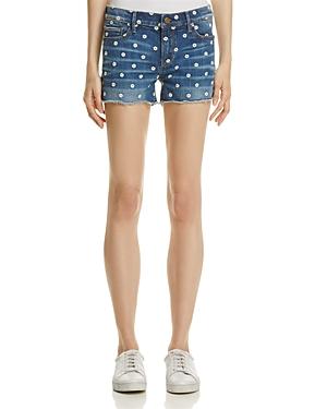Aqua Embroidered Denim Shorts - 100% Exclusive