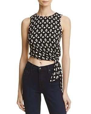 Aqua Printed Sleeveless Tie-Hem Top - 100% Exclusive