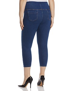 Lyssé Plus - Pull-On Toothpick Crop Jeans in Indigo