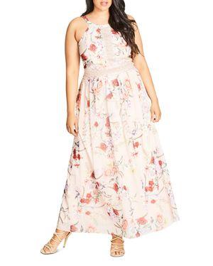 City Chic Floral Halter Maxi Dress