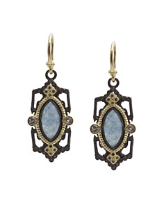 Armenta 18K Yellow Gold and Blackened Sterling Silver Old World Marquis Blue Quartz Triplet, Champagne Diamond and White Sapphire Drop Earrings - 100% Exclusive - Bloomingdale's_0