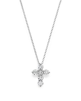 Bloomingdale's - Diamond Cross Pendant Necklace in 14K White Gold, 1.0 ct. t.w. - 100% Exclusive