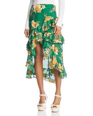 Alice + Olivia Sasha Asymmetric Tiered Ruffle Skirt
