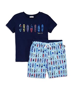 Splendid Boys Surfboard Tee  Shorts Set  Little Kid
