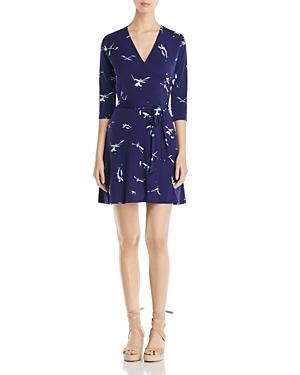 Leota Perfect Abstract Print Wrap Mini Dress