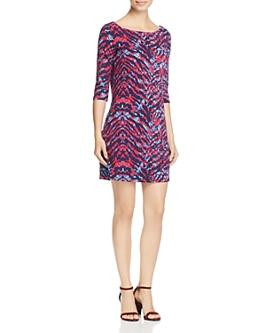 Leota Nouveau Zebra Print Knit Sheath Dress