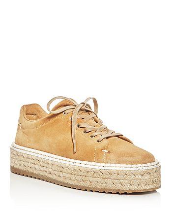 rag & bone - Women's Kent Suede Platform Espadrille Sneakers