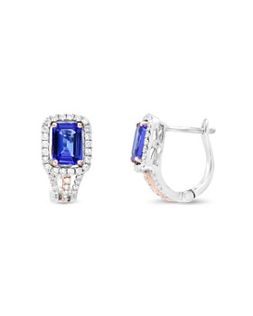 6192d27acda Bloomingdale s - Tanzanite and Diamond Earrings in 14K Rose and White Gold  - 100% Exclusive ...