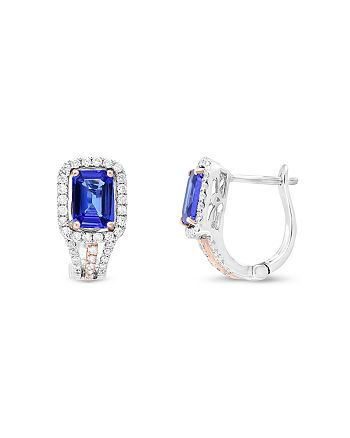Bloomingdale's - Tanzanite and Diamond Earrings in 14K Rose and White Gold - 100% Exclusive