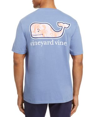 Vineyard Vines Lobster Toss Whale Fill Pocket Tee
