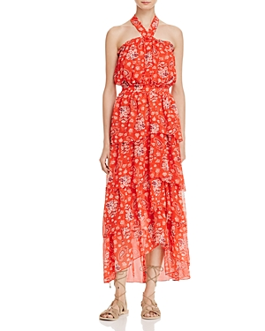 Misa Los Angeles Valeria Ruffled Halter Dress