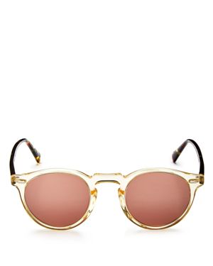 Oliver Peoples Gregory Peck Round Sunglasses, 47mm