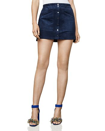 43380d222 BCBGMAXAZRIA Mora Faux-Suede A-Line Mini Skirt | Bloomingdale's