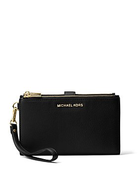 MICHAEL Michael Kors - Adele Double Zip Leather iPhone 7 Plus Wristlet