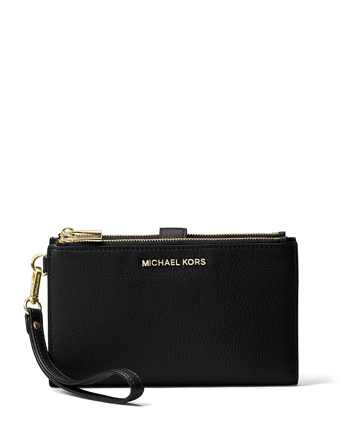1b789d795e05 MICHAEL Michael Kors Adele Double Zip Leather iPhone 7 Plus Wristlet ...