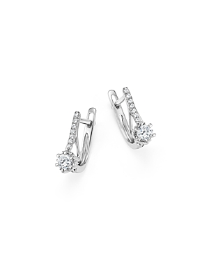 Diamond Small Drop Earrings in 14K White Gold, .25 ct. t.w. - 100% Exclusive