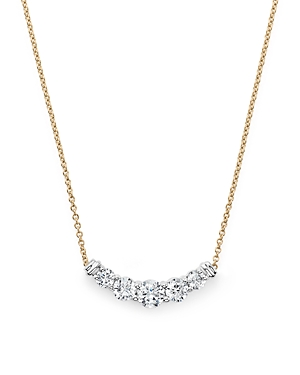 Diamond Graduated Pendant Necklace in 14K Yellow Gold, .50 ct. t.w. - 100% Exclusive
