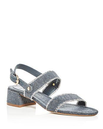 Joie - Women's Rach Denim Block Heel Slingback Sandals