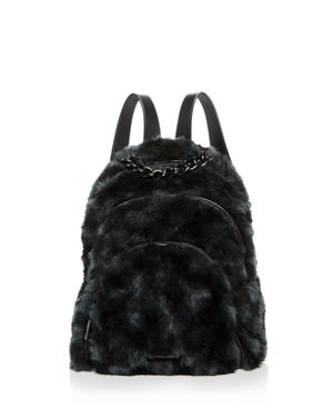 Kendall and Kylie Sloane Checkered Faux-Fur Backpack - 100% Exclusive