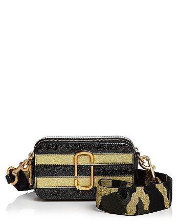 9bf4cf95741b7 MARC JACOBS - Snapshot Glitter Stripe Leather Camera Bag