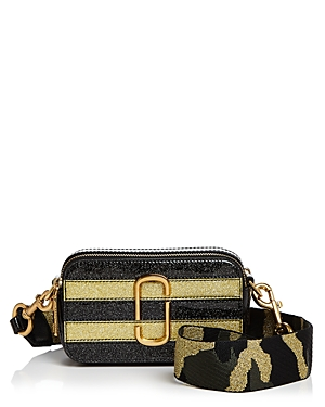 Marc Jacobs Snapshot Glitter Stripe Leather Camera Bag