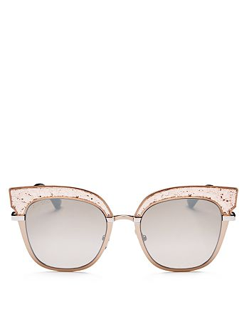Jimmy Choo - Women's Rosys Mirrored Square Sunglasses, 51mm