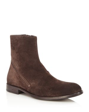 John Varvatos Star Usa Waverly Suede Asymmetrical Boots