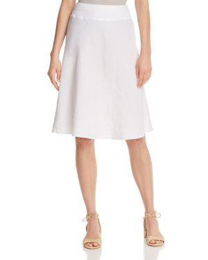 Three Dots Linen A-Line Skirt