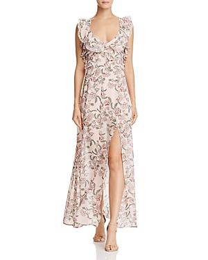 For Love & Lemons Bee Balm Ruffled Maxi Dress