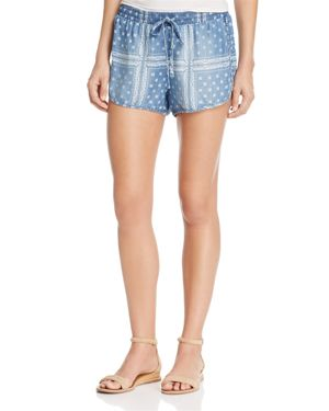 Bella Dahl Printed Chambray Shorts