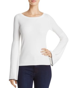 Theory Tipped Bell Sleeve Sweater
