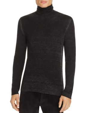 John Varvatos Collection Silk-Cashmere Burnout Turtleneck Sweater